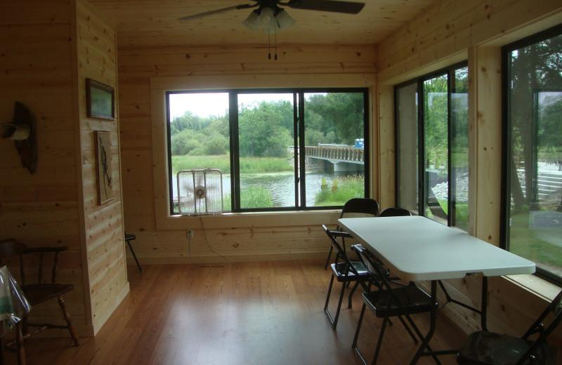 Cabin porch at Anchor Inn Resort.
