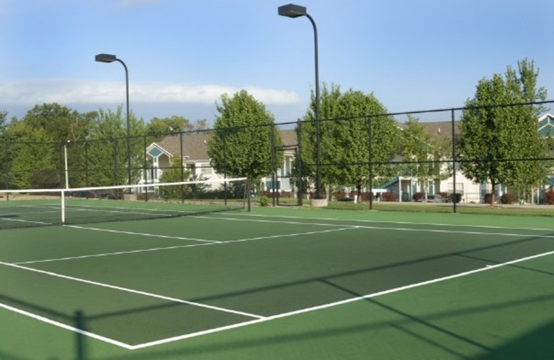 Tennis court at Thousand Hills Golf Resort.