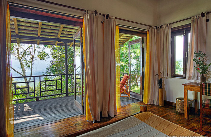 Guest room at Tiger Mountain Pokhara Lodge.