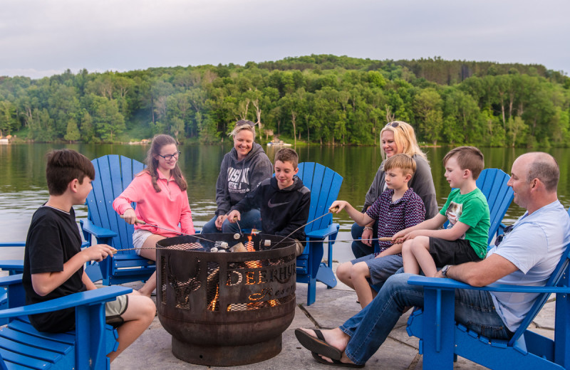 Bonfire at Deerhurst Resort.