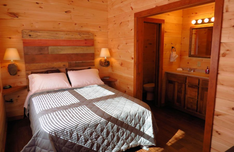 One bedroom cabin at Shawnee Forest Cabins in Southern Illinois.