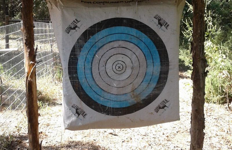 Target practice at Mustang RV Ranch.