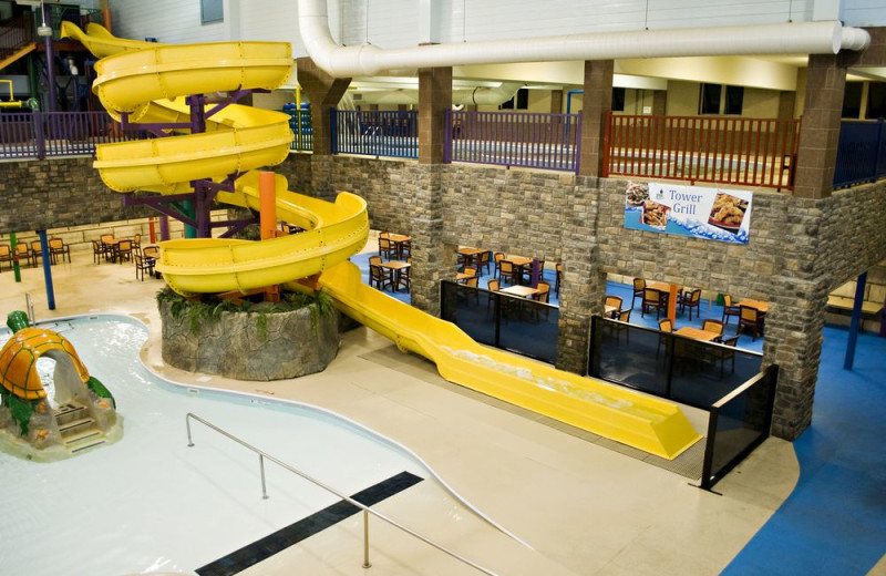 Water slide at Castle Rock Resort and Waterpark.
