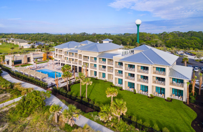 Aerial view of Jekyll Ocean Club.