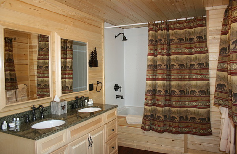 Guest bathroom at St. Mary Lodge & Resort.