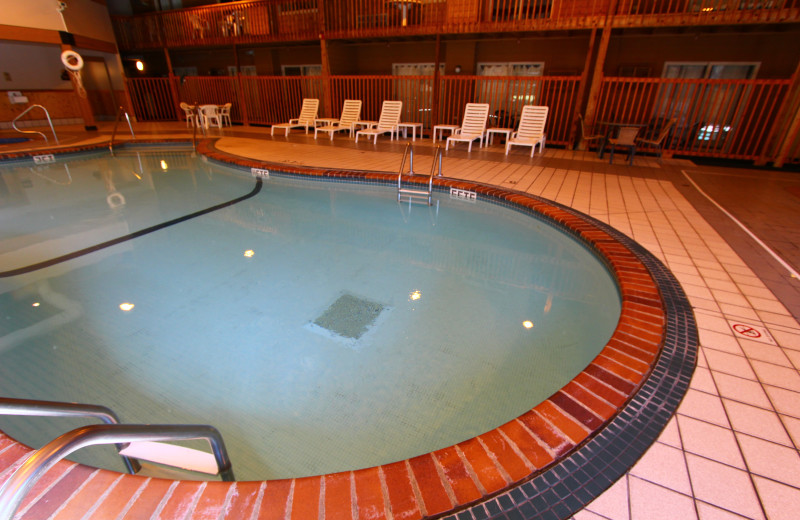 Indoor pool at Superior Shores Resort.