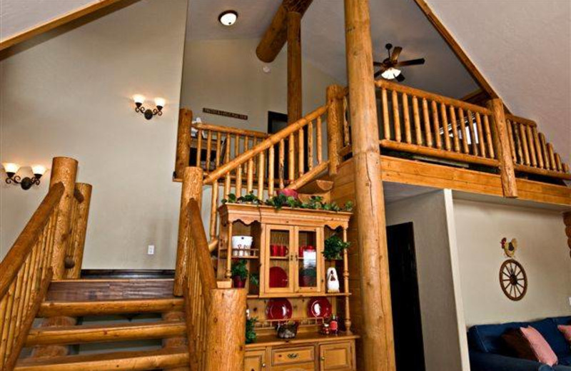 View of stairs at Zion Ponderosa Ranch.