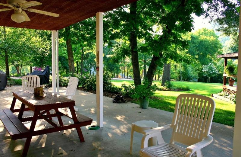 Porch at River Ridge Inn.