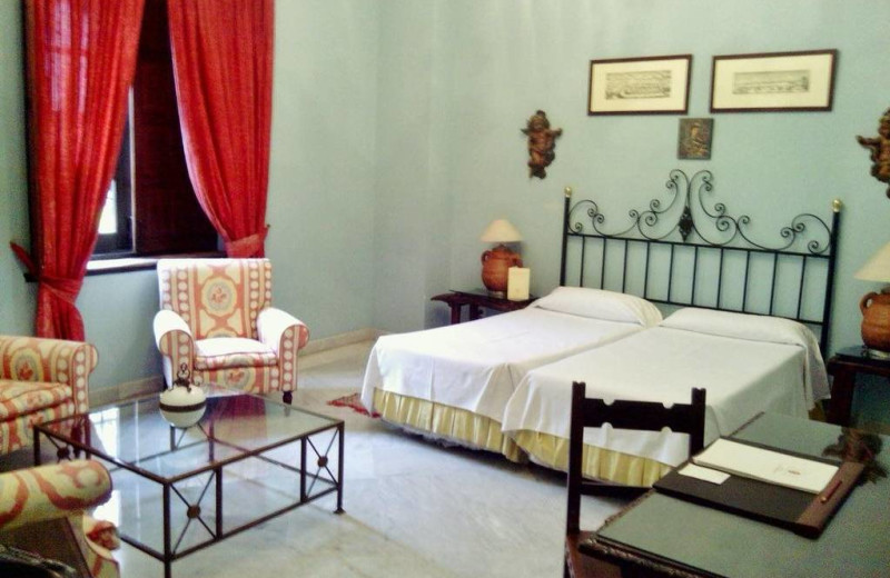 Guest room at Hotel Casa Imperial.