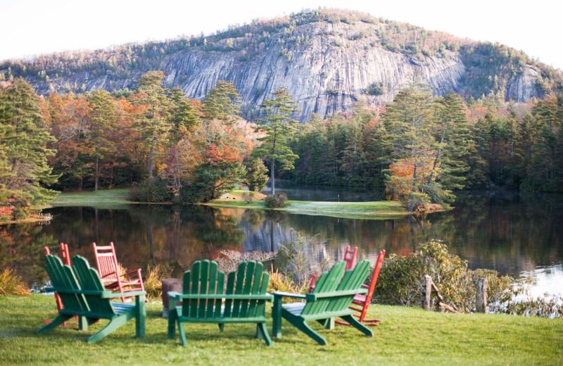 Lake view at High Hampton Resort.