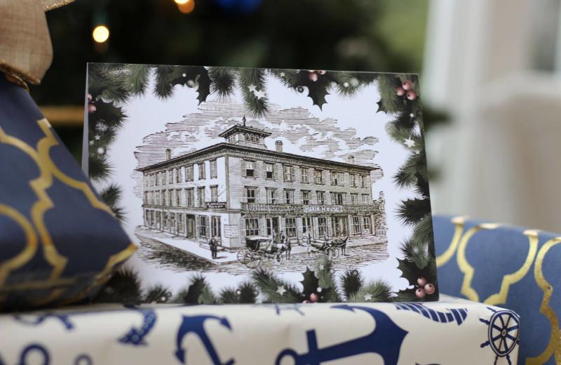 Holiday post card at Whaler's Inn.