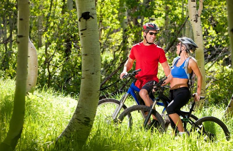 Biking near Oxen Yoke Inn.