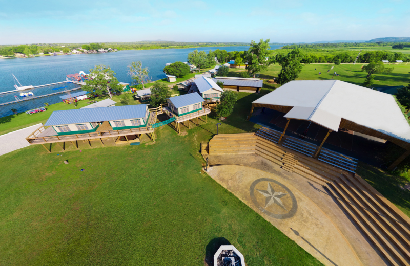 Exterior view of Camp Champions on Lake LBJ.
