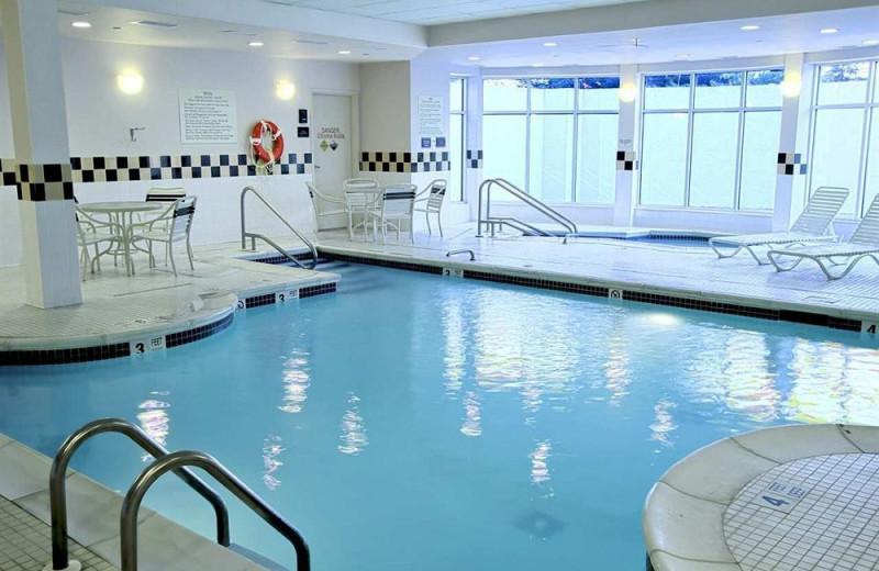 Indoor pool at Hilton Garden Inn Westbury.