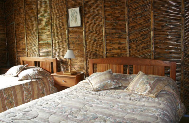 Guest room at Hacienda Tinalandia Hotel and Nature Reserve.