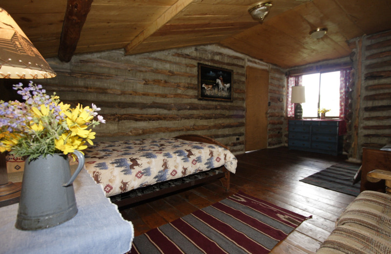Cabin interior at Granite Creek Guest Ranch.