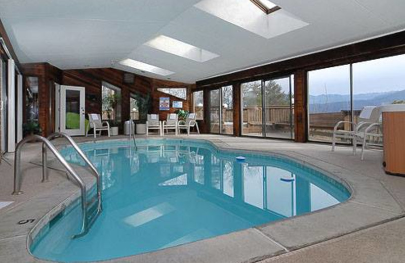 Private indoor pool at Cabins For You.