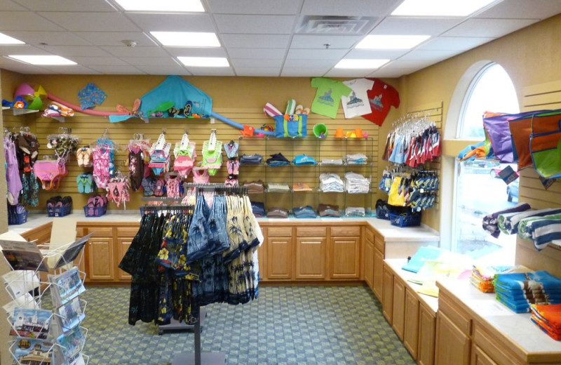 Gift shop at Castle Rock Resort and Waterpark.