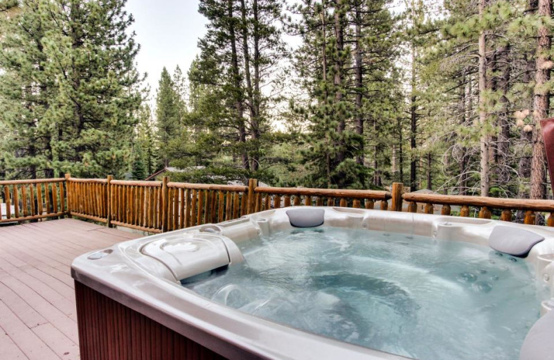 Vacation rental hot tub at Vacasa Rentals Lake Tahoe.