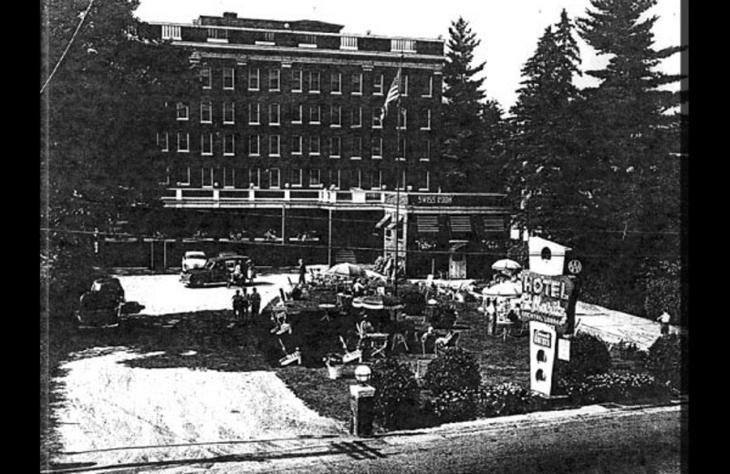 Historical photo of The Pines Inn of Lake Placid.