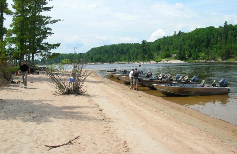 Beach at Maynard Lake Lodge and Outpost.