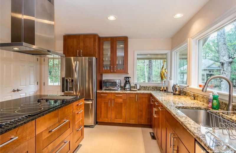 Rental kitchen at Vacation Rental Pros - Hilton Head Island.