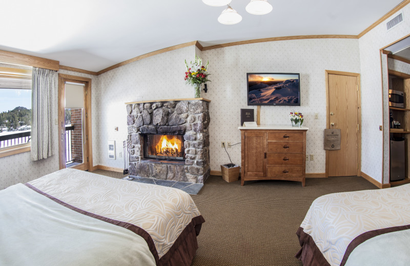 Phelps Specialty Room with 2 Queen Beds and Wood Fireplace