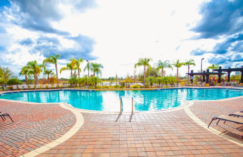 Outdoor pool at Casiola Vacation Homes.