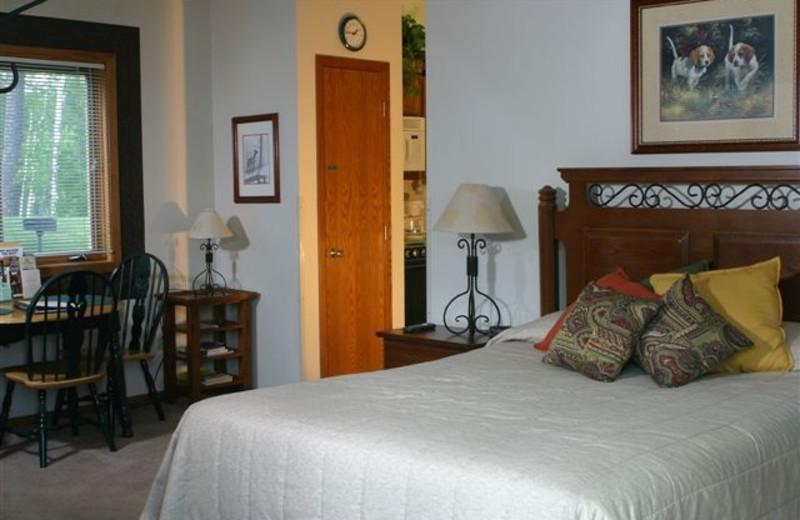 Villa bedroom at Giants Ridge Golf and Ski Resort.