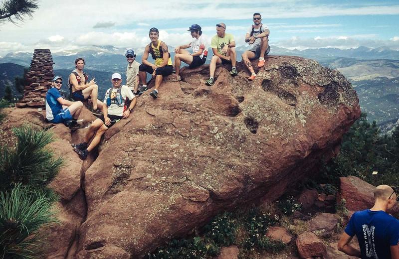 Mountain climbing at Boulder Adventure Lodge.