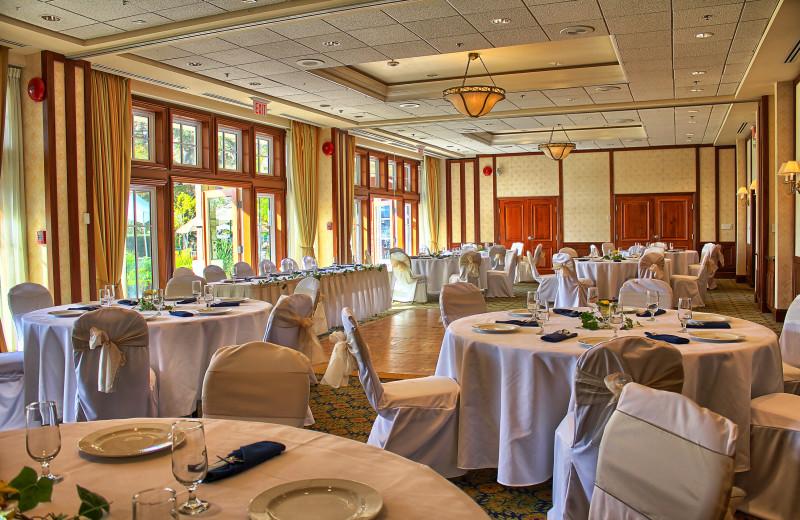 Wedding reception at Poets Cove Resort & Spa.