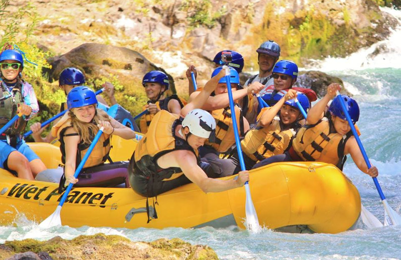 Rafting at Vagabond Lodge.