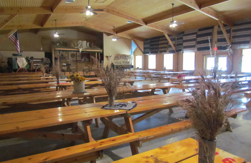 Dinning hall at High Country Guest Ranch.