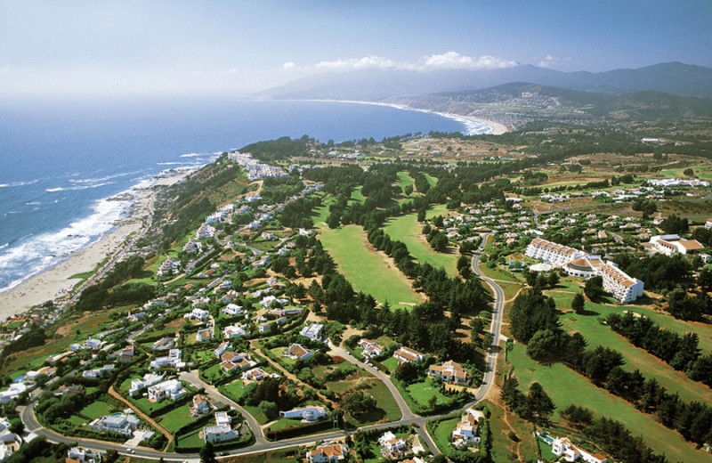 Aerial view of Marbella Resort Hotel.