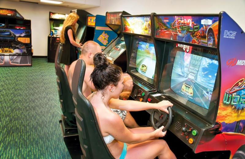 Video arcade at Best Western PLUS Oceanfront Virginia Beach.