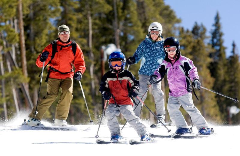 Skiing at Old Forge Camping Resort.