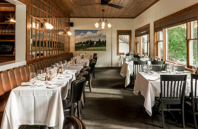 Dining at Riverside Inn of Leland Michigan.