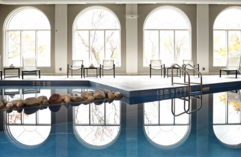 Indoor pool at Delta Fredericton.