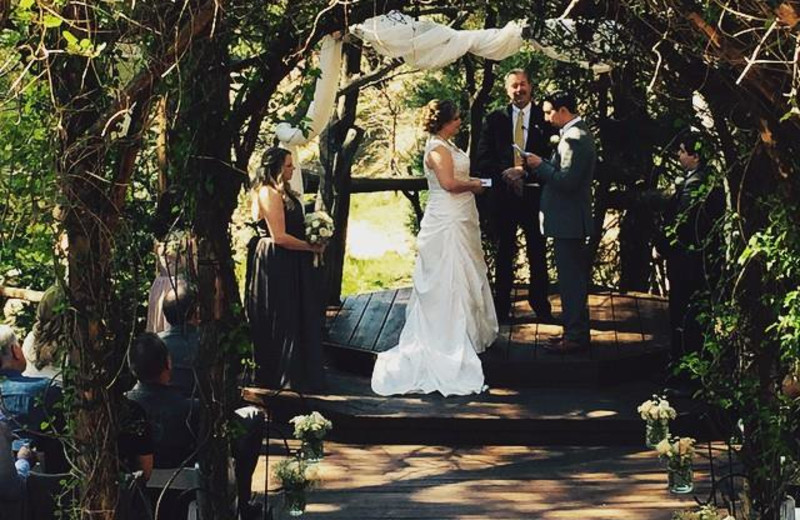 Weddings at Arrowhead Pine Rose Cabins.