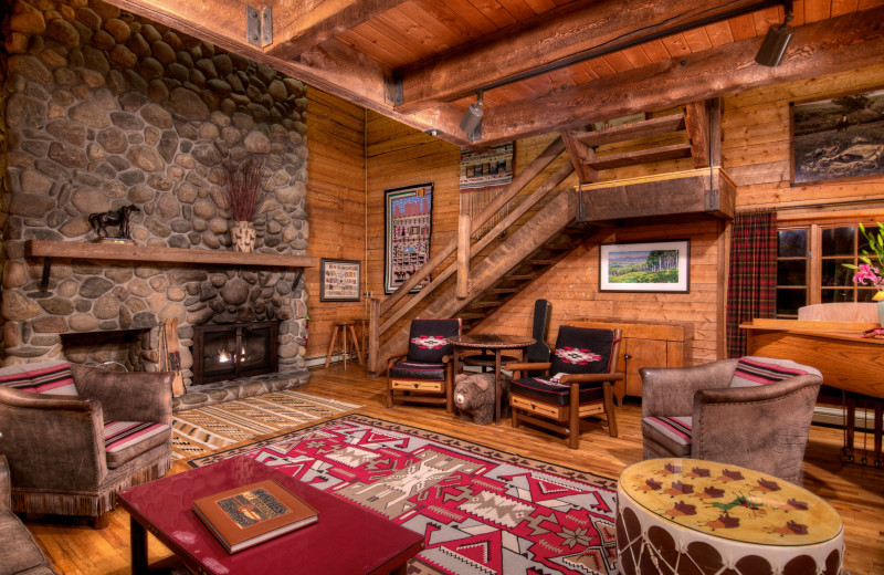 Guest living room at The Home Ranch.