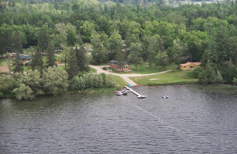 Aerial view of Eagle Ridge Resort.