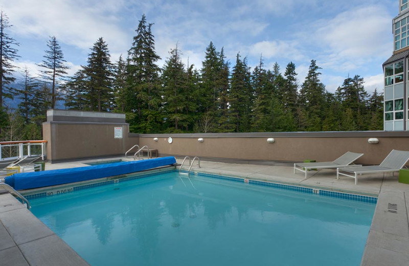 Outdoor pool at Le Chamois.