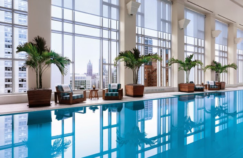 Indoor pool at The Peninsula Chicago.