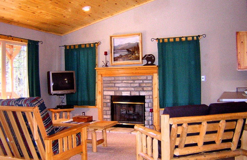 Cabin Living Room at Retreat at Angel Fire