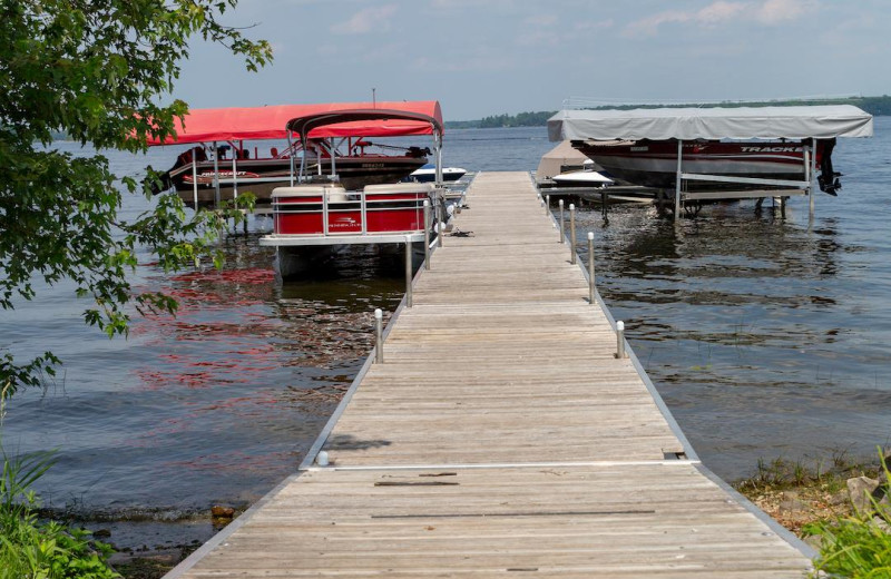 Dock at Great Blue Resorts- McCreary's Beach Resort.