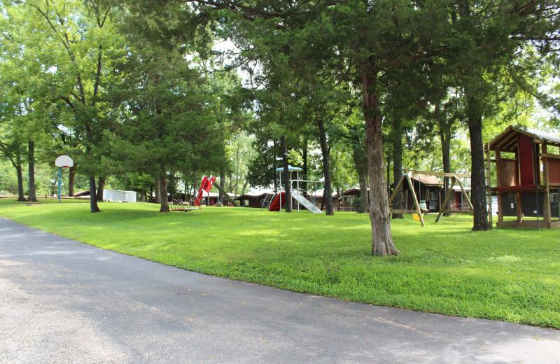Grounds at Hawks Landing Resort.