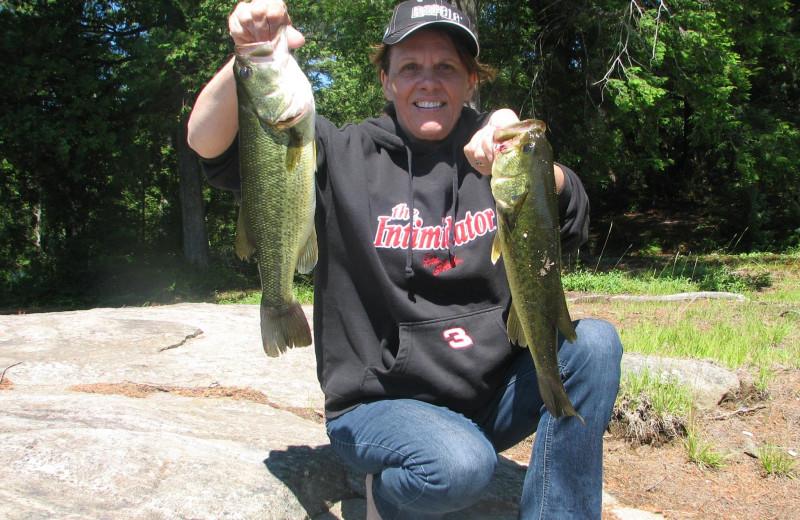 Fishing at Bonnie Lake Resort.