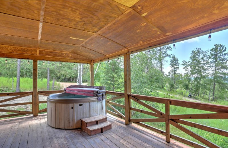 Rental hot tub at Deadwood Connections.