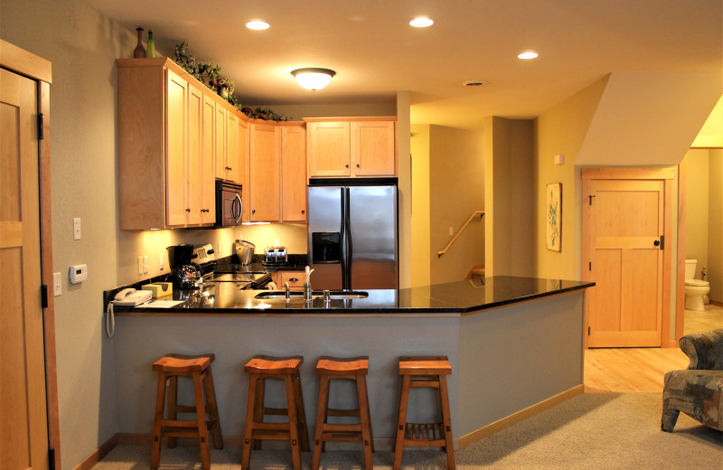 Guest kitchen at Northernaire Resort.