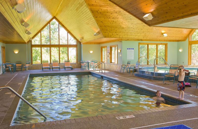 Indoor pool at Lutsen Resort on Lake Superior.
